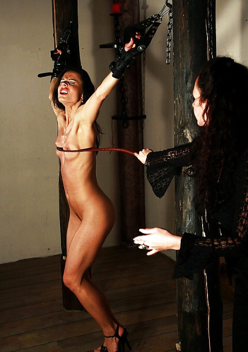 Very Breast whipping torture
