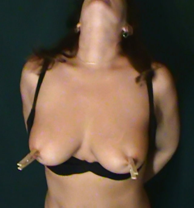 Nipples tied pinched pulled bitten and used 5