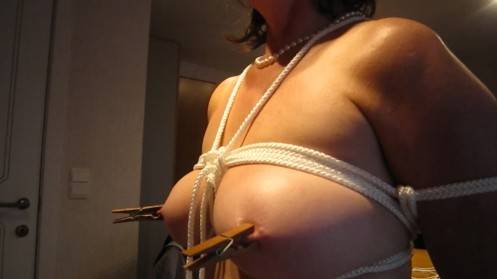 Homebound tight breasts and pegged nipples